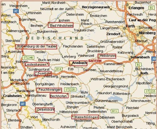 Mittelfranken Karte.Vereine Der Region